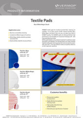 Product Information Textile Pads